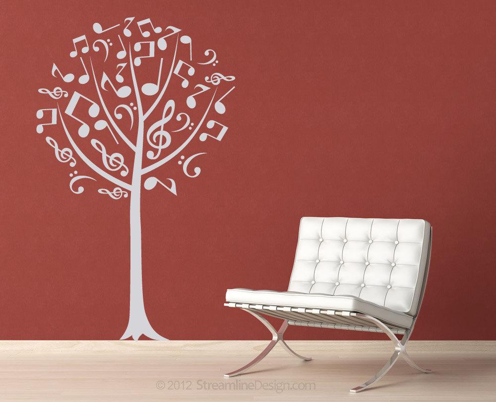 Musical Notes Tree Vinyl Wall Art