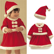 Children Christmas Santa Claus Costume Boys Girls Kids Cosplay Fancy Dre... - $15.69