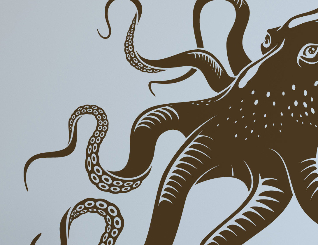 Yet Another Giant Octopus Removable Vinyl Wall Art