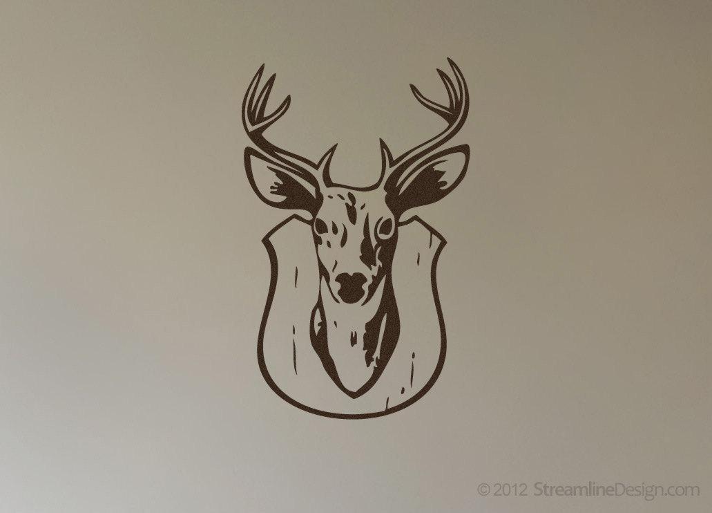 Deer Head Trophy Mount Wall Art Vinyl