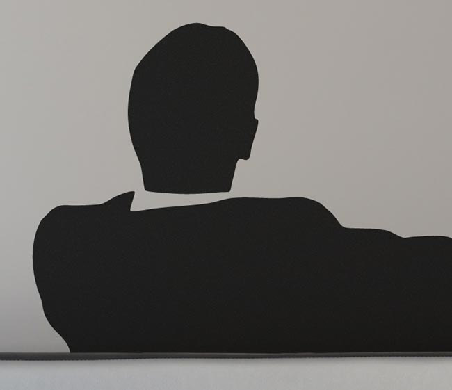 Mad Business Men Sitting On Couch Smoking, Vinyl Wall Art