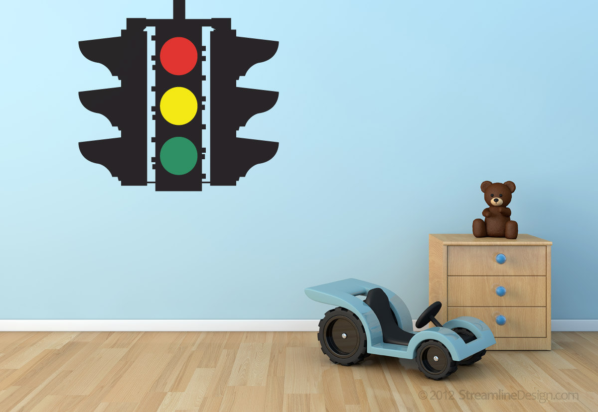 Primary image for Stop Caution Go - Traffic Light Vinyl Wall Art