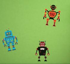 Robot Invasion, Series 1 - Printed Wall Fabric ... - $22.95