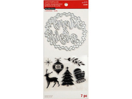 Recollections Christmas Stamp & Die Set #565643, Large Merry & Bright Die!
