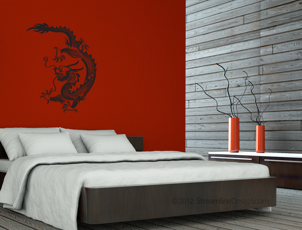 Large detailed Chinese Dragon Vinyl Wall Art
