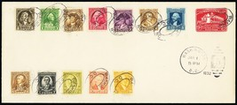 704-15, Complete Set on First Day Cover With U525 -- Stuart Katz - $85.00