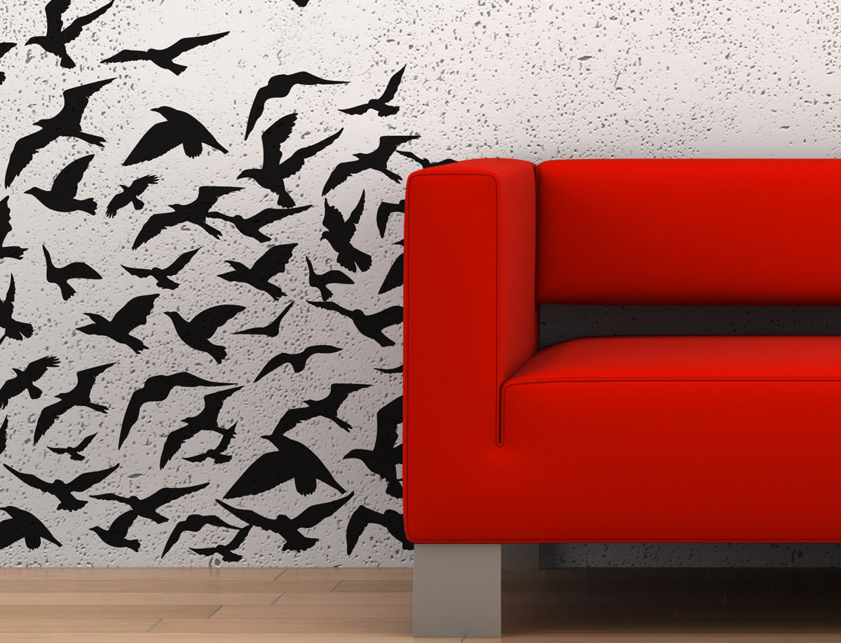 Primary image for Flock Of Birds Vinyl Wall Art Decoration