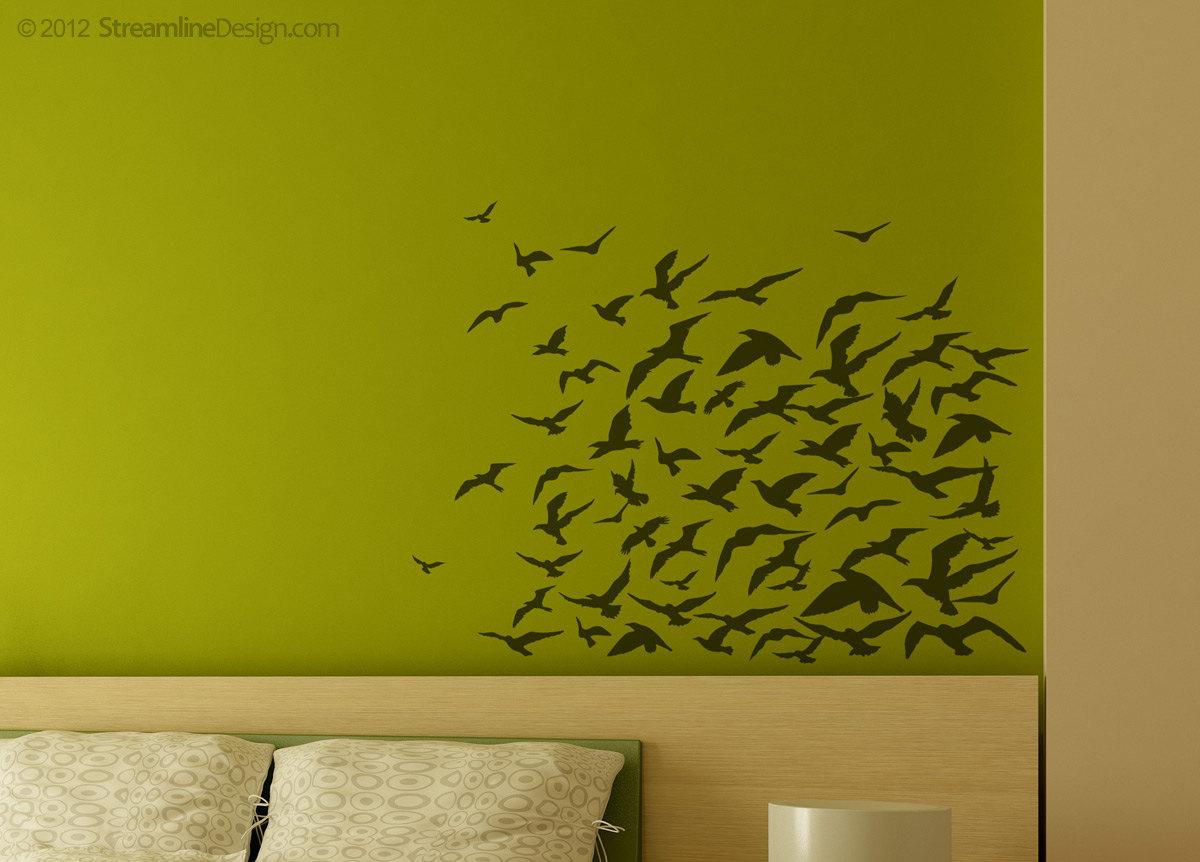 Flock Of Birds Vinyl Wall Art Decoration
