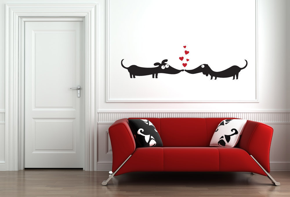Dogs in Love Vinyl Wall Art