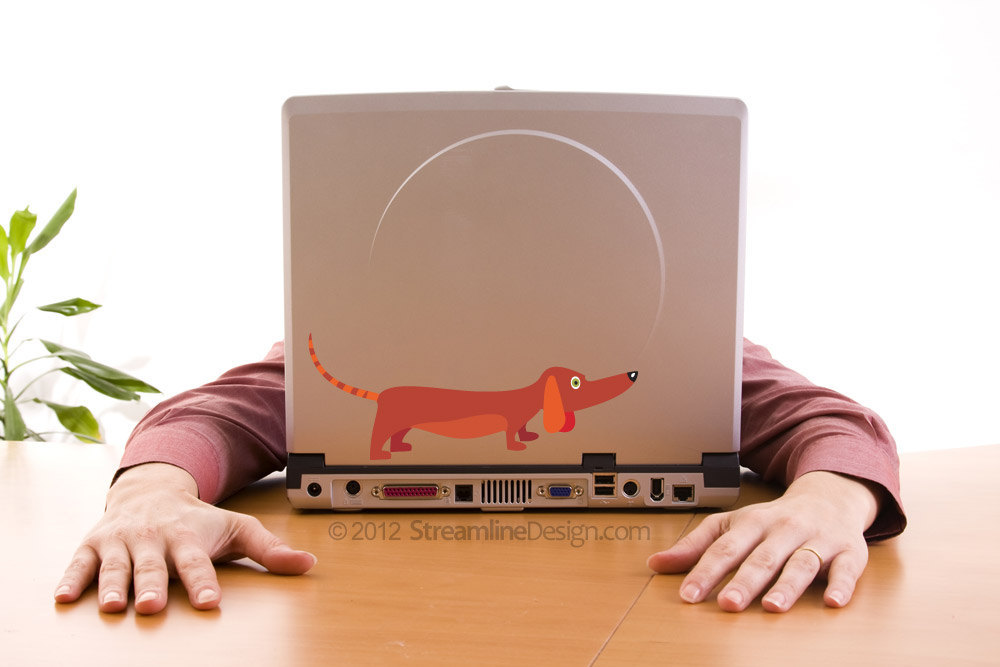 Dachshund Vinyl Laptop Art