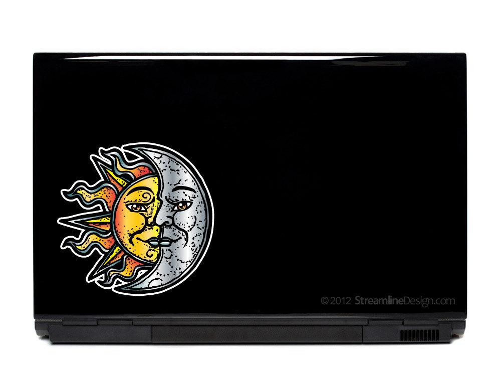 Sun and Moon Vinyl Laptop Art