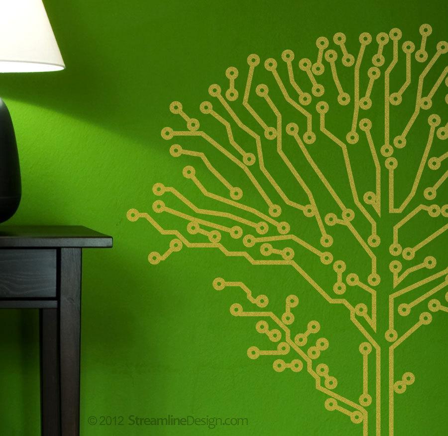 Large 6 Foot Tall Circuit-Tree (circuitry). Geeks love nature too.