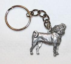 Puggle Dog Keychain Keyring Harris Pewter Made USA Key Chain Ring - $9.48