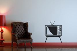 Retro Television TV Set Vinyl Wall Art Decor - $19.95