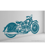 Life Size Vintage Retro Motorcycle Vinyl Wall Art Graphic - $89.95