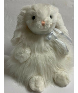 """Ty Classic White """"CASHMERE"""" 12""""EASTER Bunny Rabbit Blue Eyes Long Fur Vi... - $19.99"""