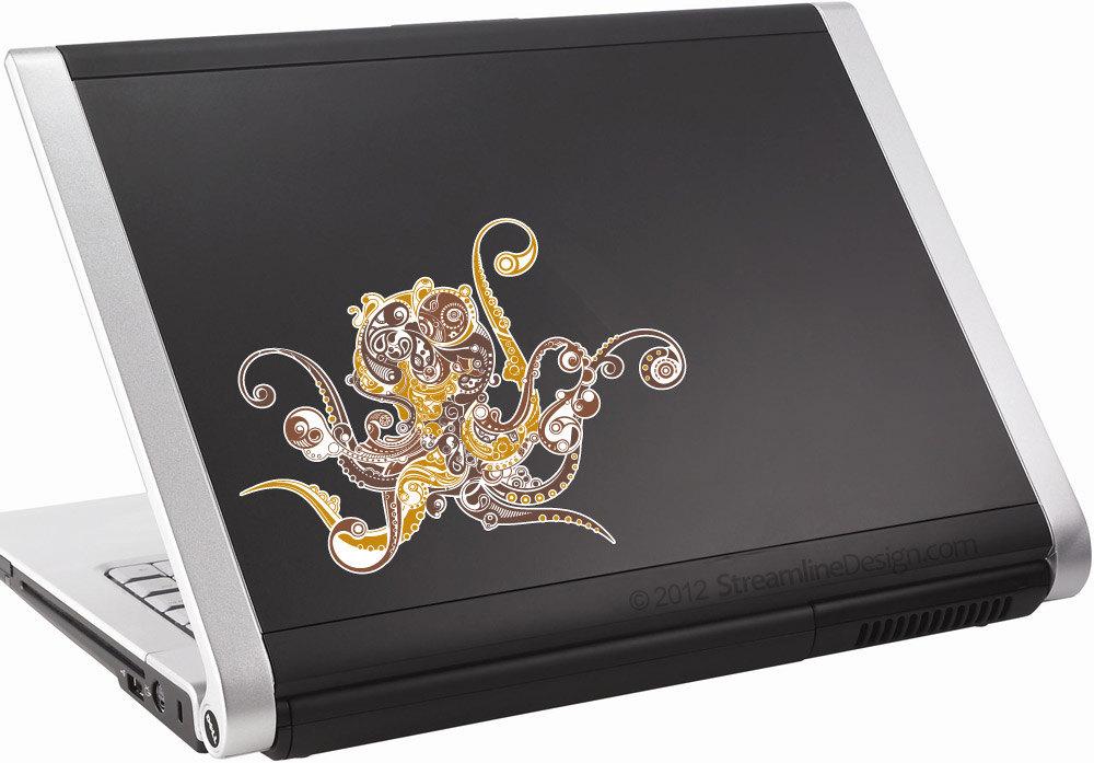 Ornate Octopus Vinyl Laptop Art