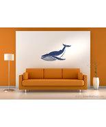 Giant blue whale vinyl wall art decoration. - $22.95