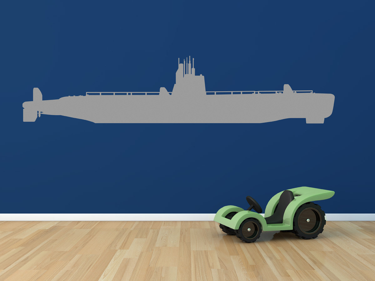 Big Submarine Kid's Wall Art Vinyl