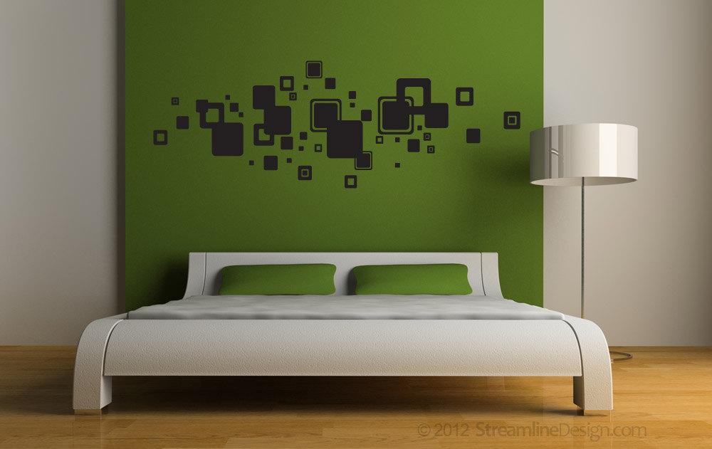 Set of 46 Squares Vinyl Wall Art