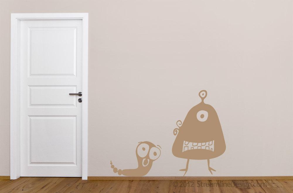 Potatohead and Rattleworm Aliens Vinyl Wall Art Set