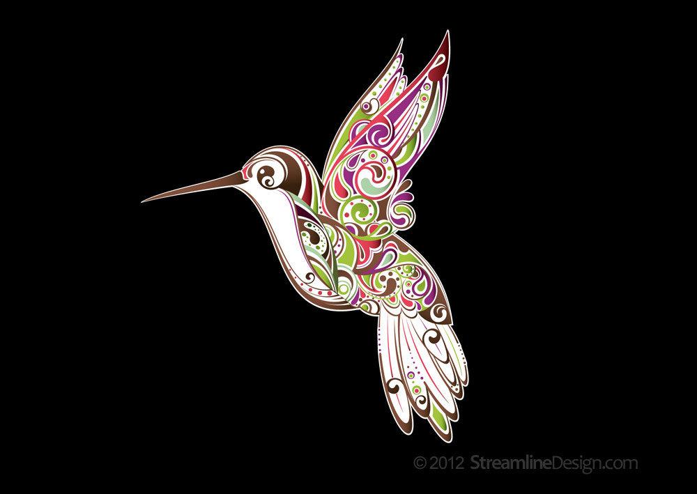 Hummingbird Vinyl Laptop Art