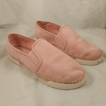Vince Camuto Tambie Espadrille Pink Suede Loafers US 7.5 EUR 38 Slip-on Shoes - $35.96