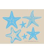 Six Piece Starfish Set - Matte Removable Wall Art - $13.95