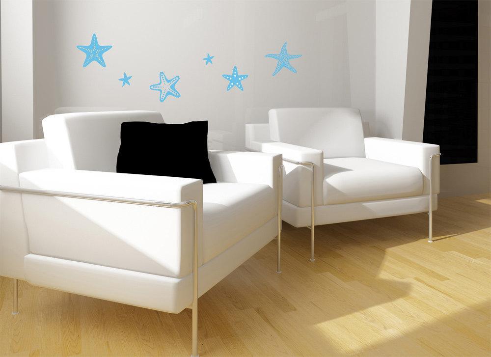 Six Piece Starfish Set - Matte Removable Wall Art
