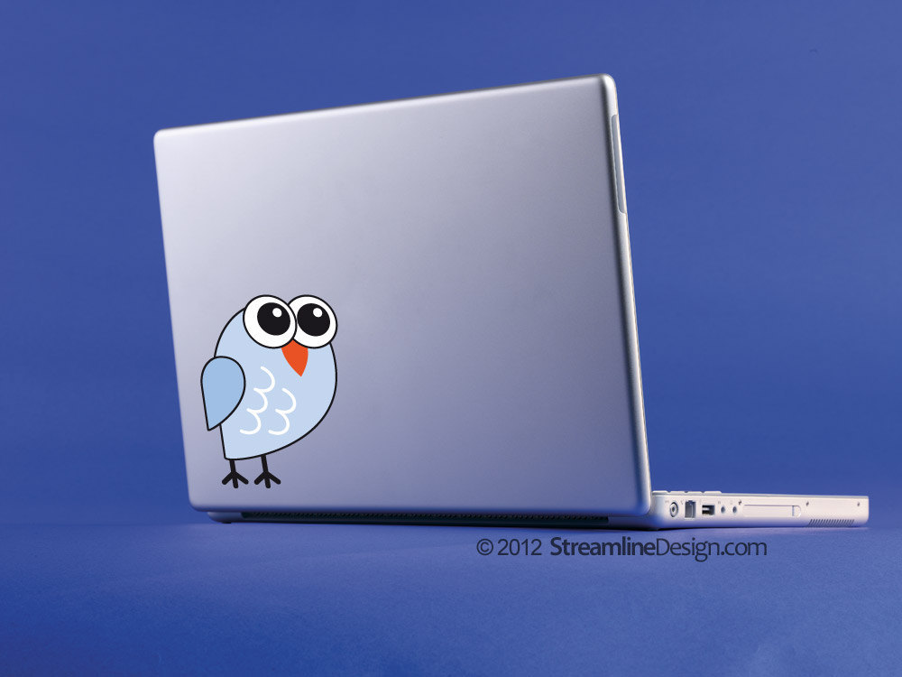 Mr. Big Eyes Owl Vinyl Laptop Art