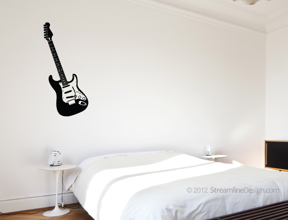 Electric Guitar Vinyl Wall Art
