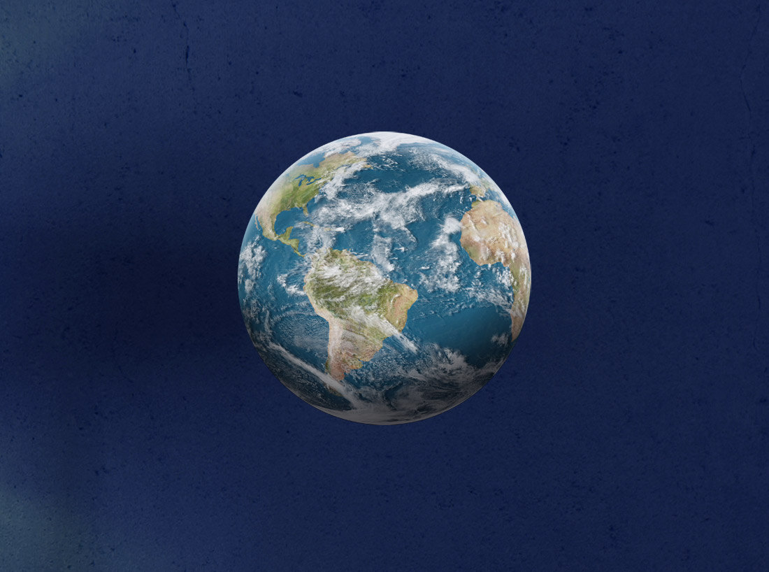 Earth Print - High Resolution Image on Adhesive Fabric