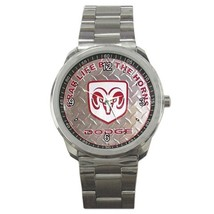 NEW Dodge Car Logo Custom Sport Metal Men Watch-02 - $15.00
