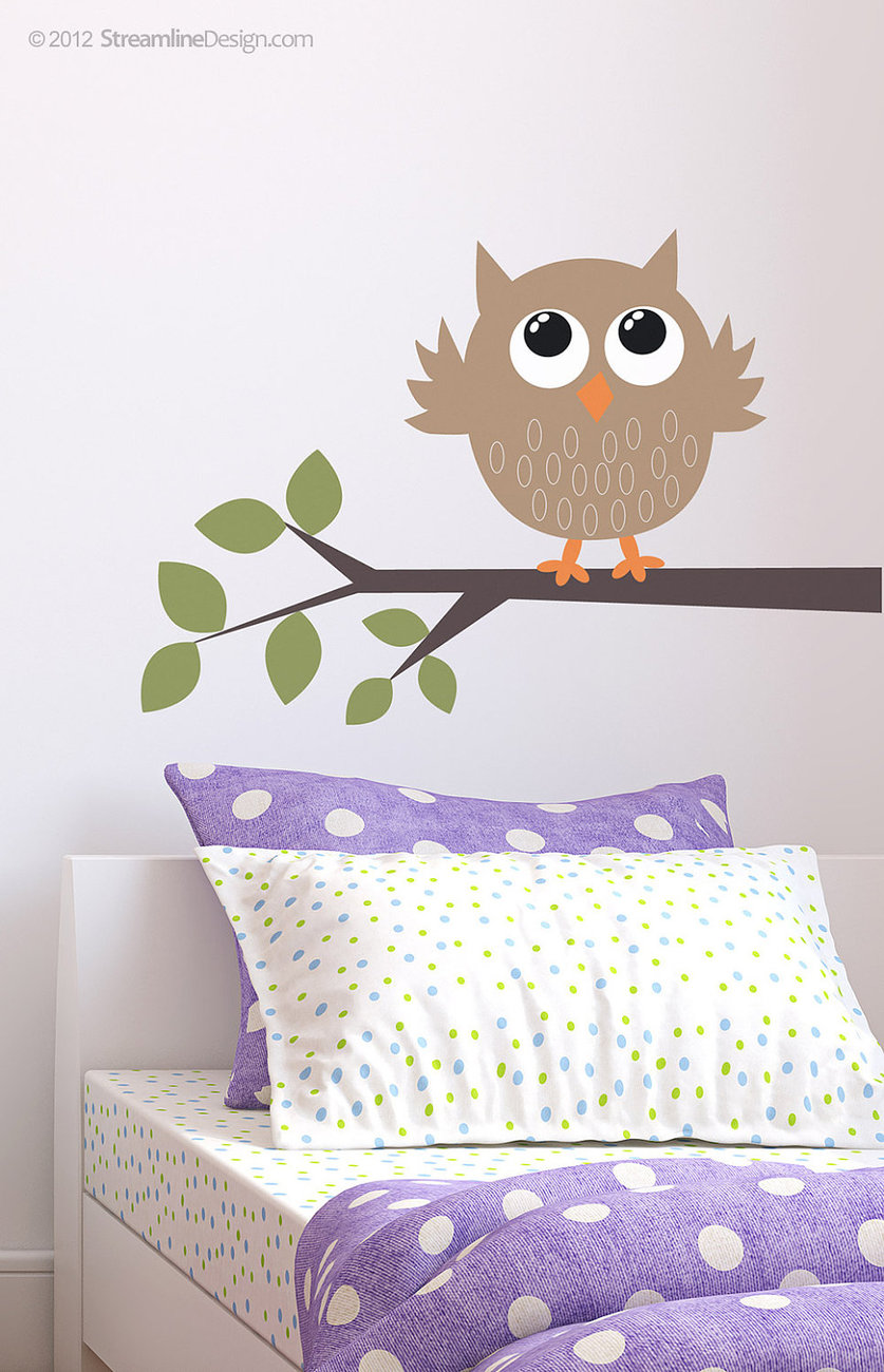 Simple Owl On A Branch Kit - Wall Vinyl Art Decor