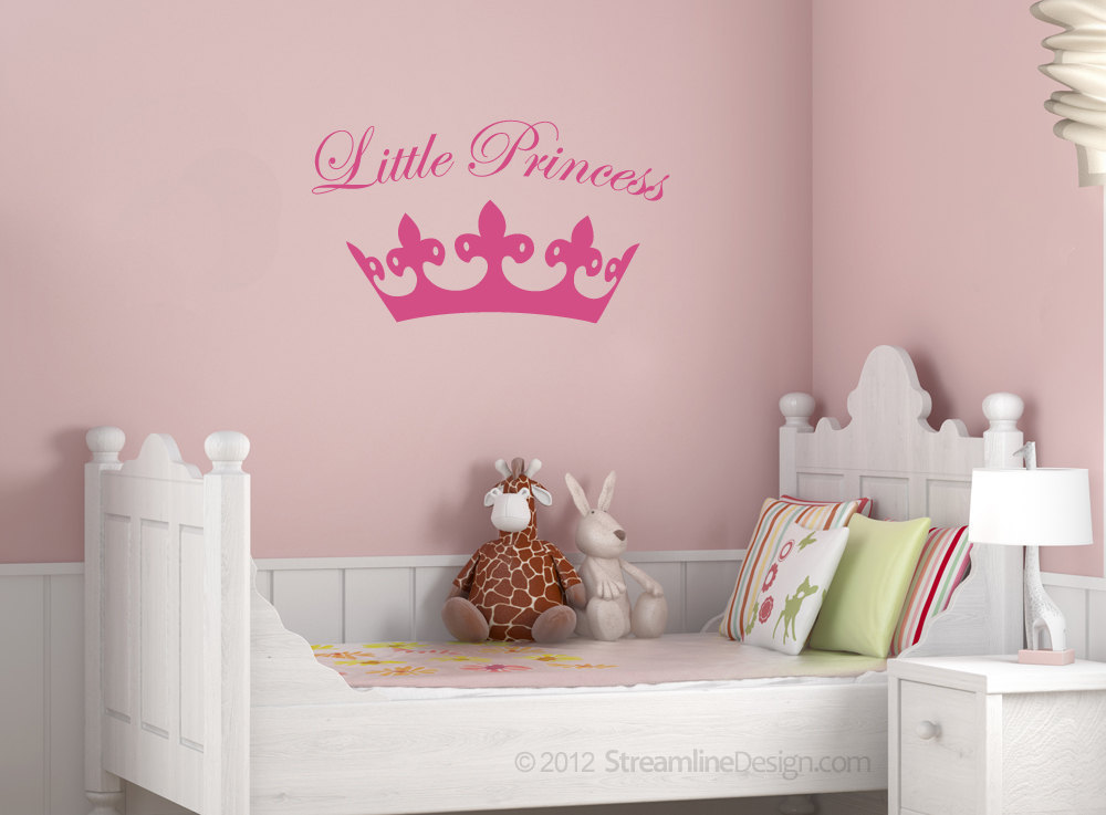 Liltte Princess with Crown Vinyl Wall Art