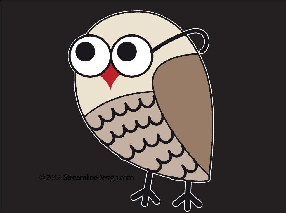 Brainy Owl Vinyl Laptop Art
