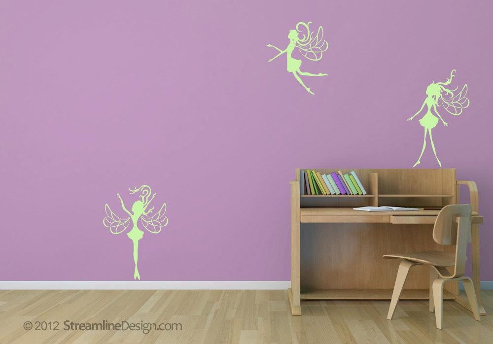 Three Fairies Vinyl Wall Art