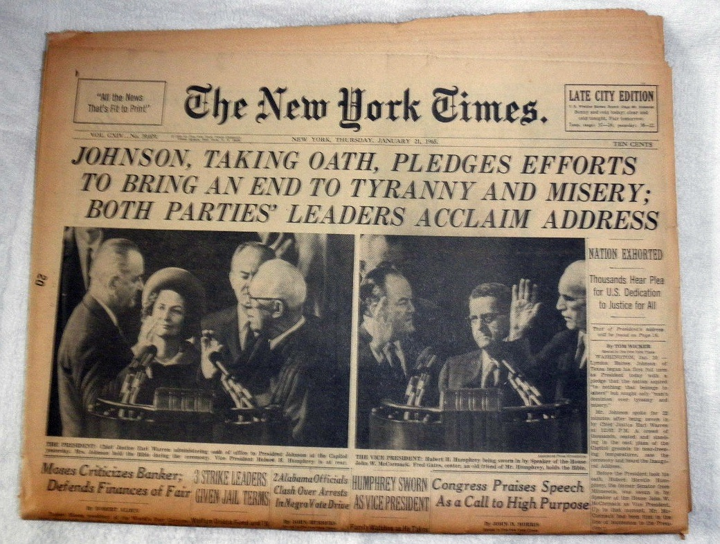 Primary image for The New York Times January 21, 1965