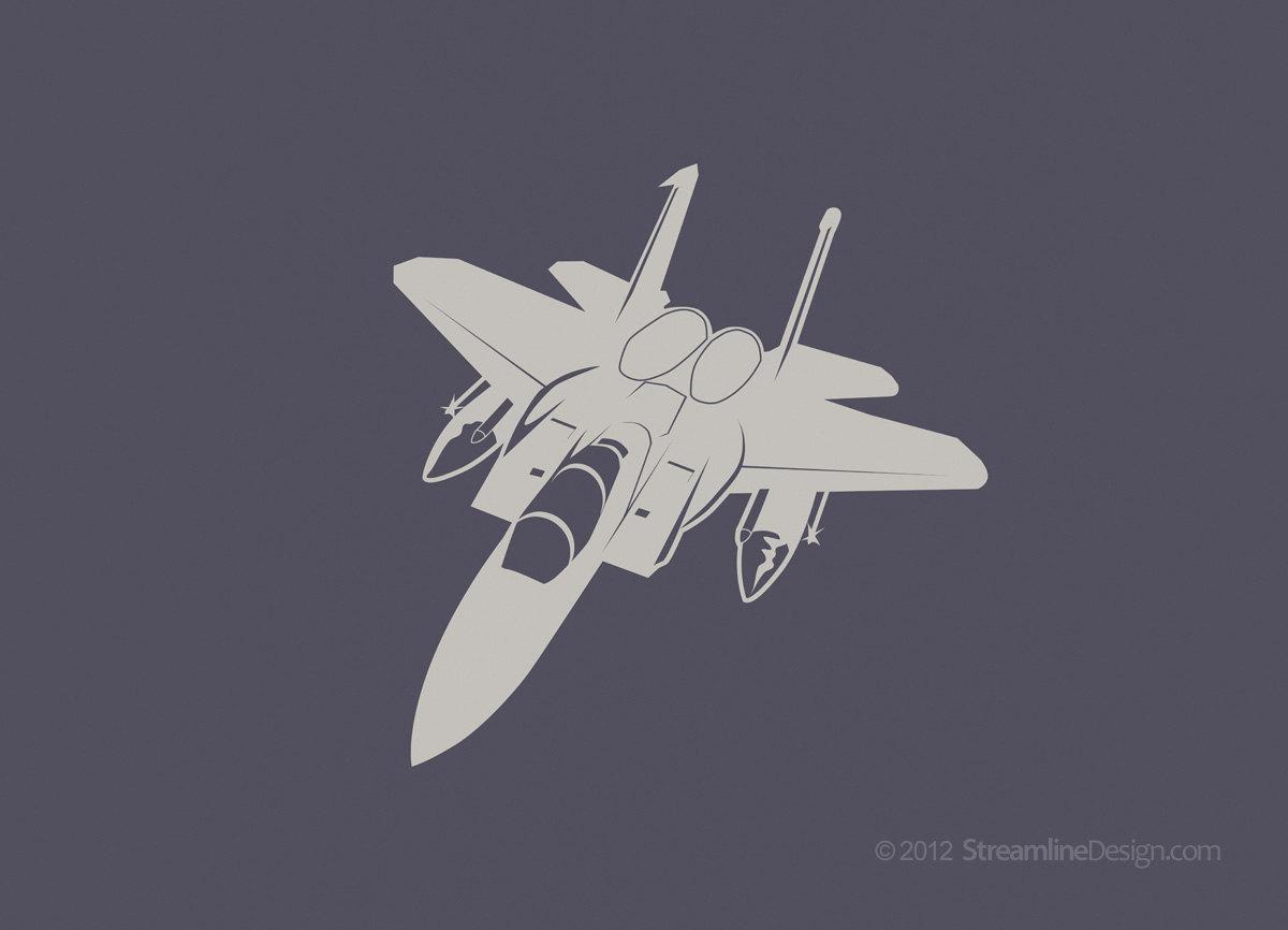 51x48 Inches Jet Airplane Vinyl Wall Art