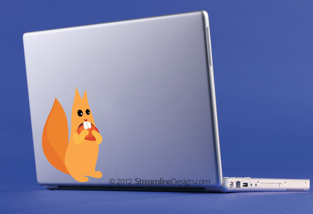 Silly Squirrel Vinyl Laptop Art