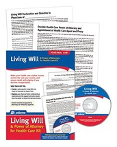 Adams Living Will and Power of Attorney for Healthcare Kit, Forms and In... - $30.05