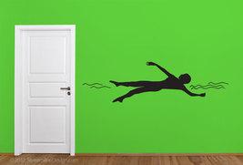 Backstroke Swimmer Silhouette Vinyl Wall Art - $24.95