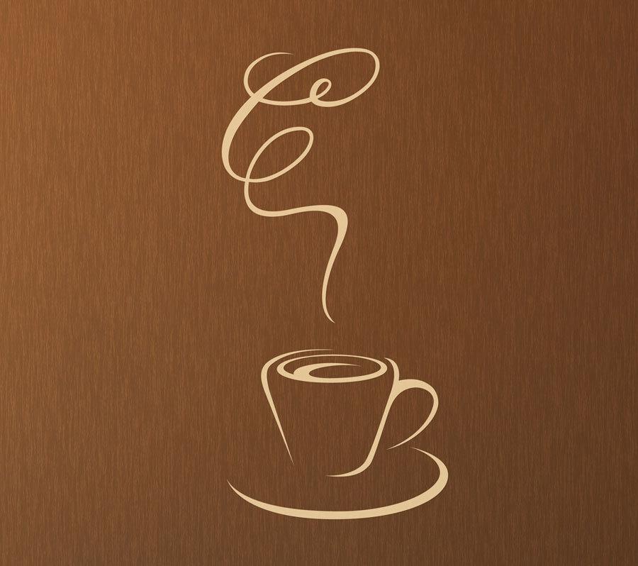 24 inch Coffee Wall Art - Matte Removable Vinyl