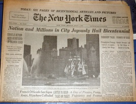 The New York Times July 5, 1976 - $8.50