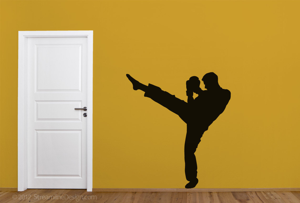 Primary image for Kick Boxing Silhouette Vinyl Wall Art