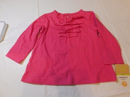 Carter's Baby Girls 12 Months Pink Long Sleeve Pull-over Shirt Top NWT - $13.60