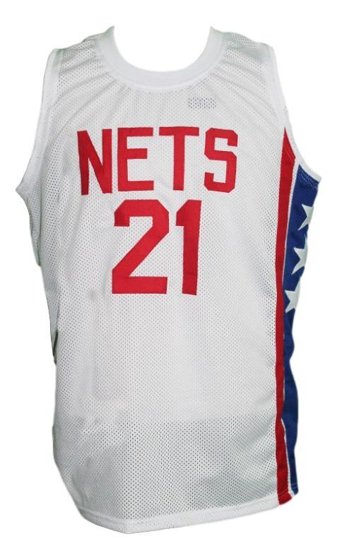 Tim bassett new york nets aba retro basketball jersey white   1