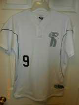 3N2 Clutch Apparel Mens Baseball Softball Henley Shirt Jersey sz M #9 white - $9.89