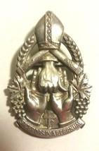 LARGE VINTAGE CATHOLIC PENDANT PIN CHARM STERLING SILVER - $95.00