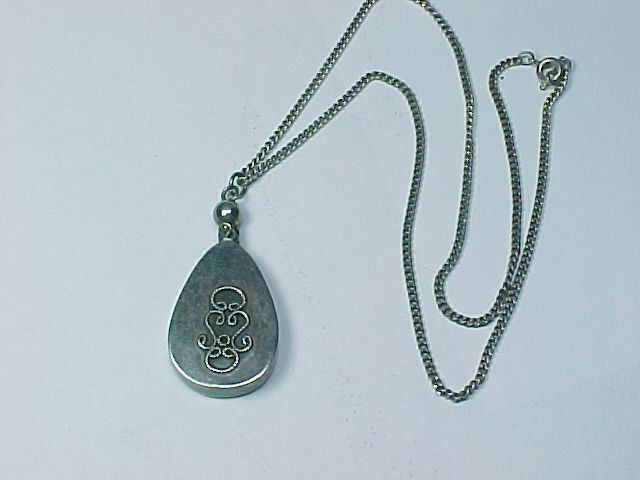 Primary image for PERFUME BOTTLE Vintage PENDANT with Dipper in Sterling Silver and 925 NECKLACE